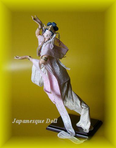 長沼隆代の創作和紙人形 春の女神「佐保姫」