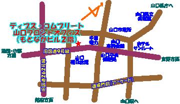 山口フロントオフィスの地図